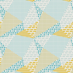 Textured triangle polygon geometric seamless pattern