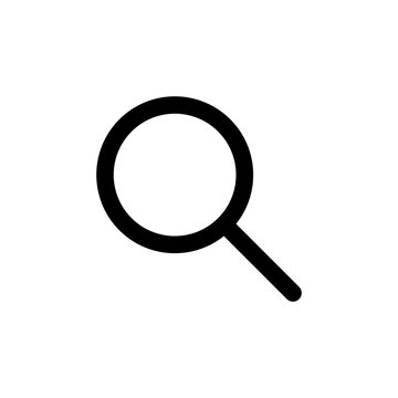 Search icon isolated on white background. Glass vector icon. search magnifying glass icon. Find