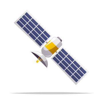 Cartoon satellite vector isolated illustration