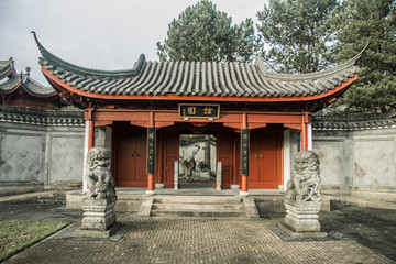 Wall Murals Place of worship entrance of chinese garden