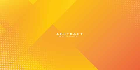 Abstract orange gradient geometric shape background with dynamic box rectangle modern corporate concept Fotomurales