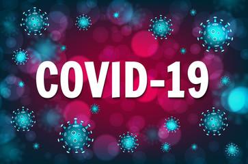 Wuhan coronavirus COVID-19 outbreak concept. Coronavirus danger and public health risk disease and flu outbreak. Pandemic medical concept with dangerous cells. Vector illustration