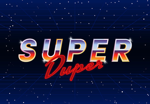 Retro Space Text Effect