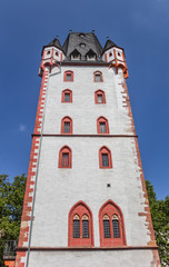 Fotomurales - Historic Holzturm tower in the center of Mainz, Germany