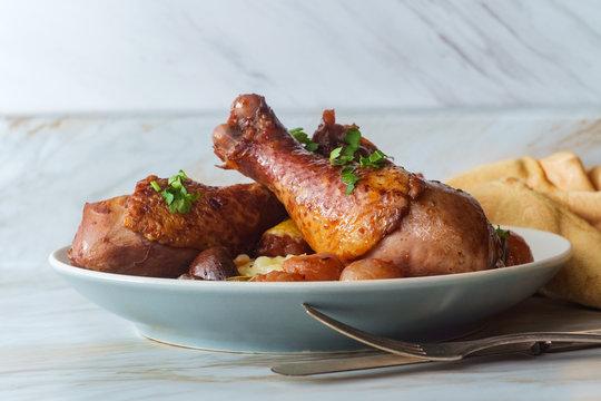 French Coq Au Vin Chicken