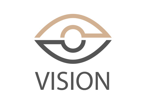 Vision Logo Vector - Isolated On White Background. Modern Eye Logo For News, Media And New Vision Logo. Flat Eye Icon. Abstract Concept Of Vision Vector