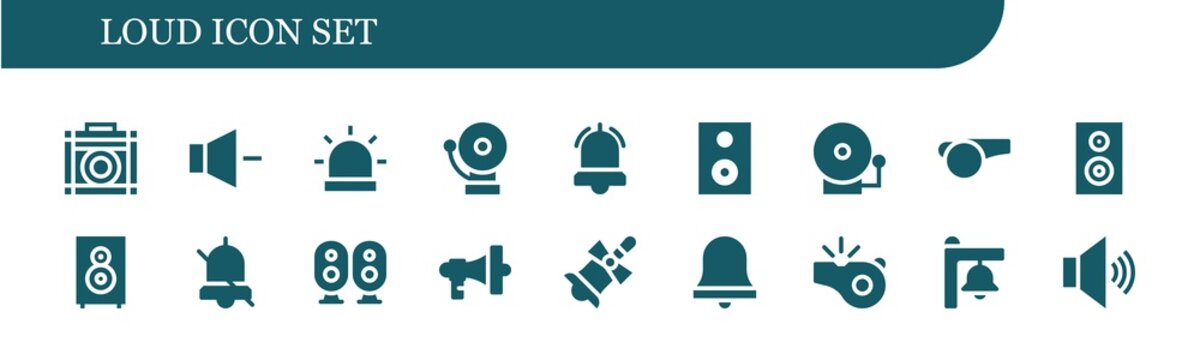 Modern Simple Set of loud Vector filled Icons
