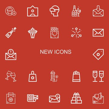 Editable 22 new icons for web and mobile