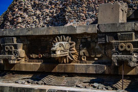 Palacio de Quetzalcoatl. Teotihuacan, Mexico