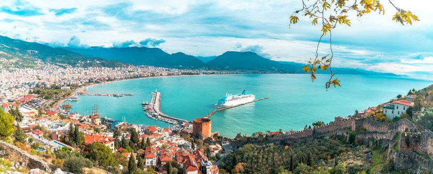 Landscape of Alanya Castle in Antalya
