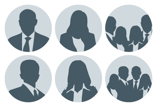 Business People Picture Placeholder Set