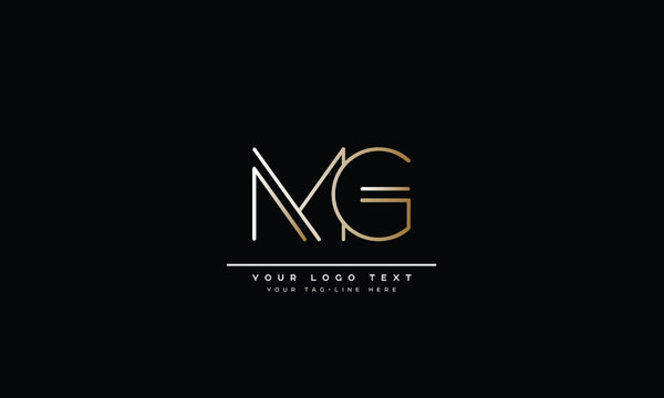 MG ,GM ,M ,G  Letter Logo Design with Creative Modern Trendy Typography
