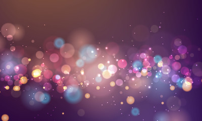 abstract blurred light element that can be used for cover decoration bokeh background vector color Wall mural