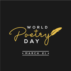 World Poetry Day Vector Design For Celebrate Moment