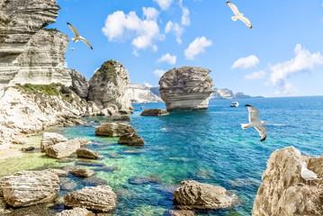 Obraz Les falaises de Bonifacio, Corse  - fototapety do salonu
