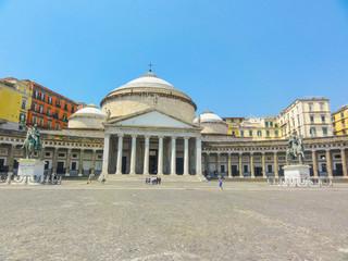 Garden Poster Napels Neapel Piazza del Plebiscito mit Basilica