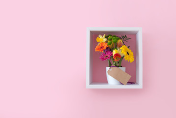 Fototapete - Gift flowers on display