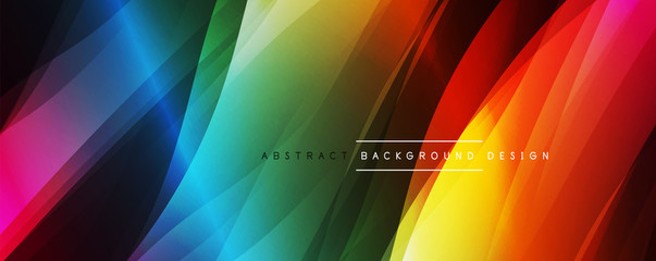 Fototapete - Dynamic trendy simple fluid color gradient abstract background with line effects. Vector Illustration For Wallpaper, Banner, Background, Card, Book Illustration, landing page