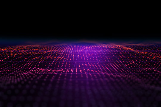 Light speed zoom travel in Deep space  background 3d technology illustration.