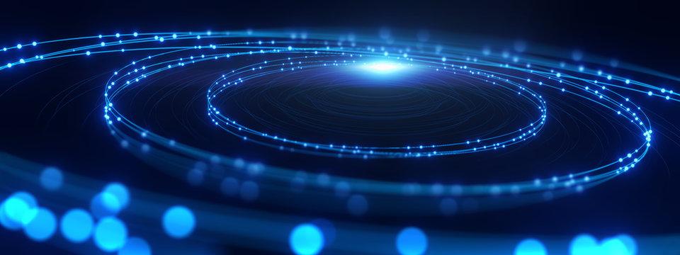 defocused image of  fiber optics lights abstract background