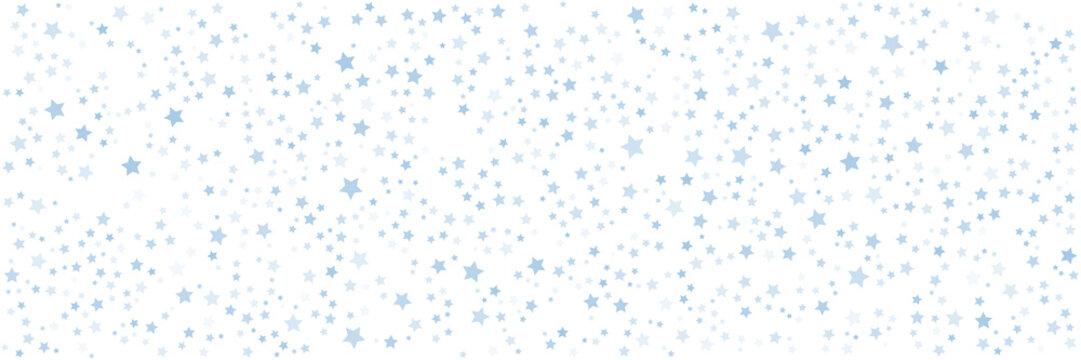 Blur star pattern wide banner background