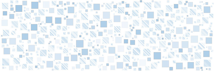 Blue square pattern background for wide banner Fotomurales