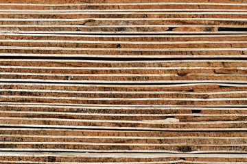 Sperrholz-Hintergrund: Verwitterter Querschnitt geschichteter Sperrholzplatten - Detail