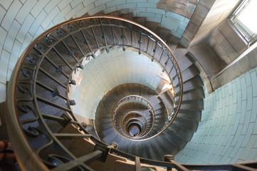 Foto op Plexiglas Spiraal intérieur phare d eckmulh finistère bretagne