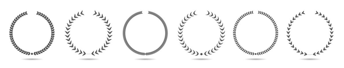 Laurel wreath icon set