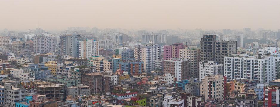 Dhaka City Landscape Taken from 19th Floor