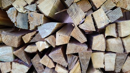 Foto auf Leinwand Brennholz-textur 薪