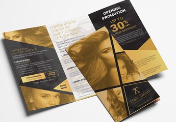 Hair Salon Trifold Brochure Layout