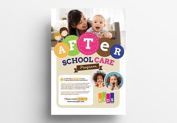 After School Care Poster Layout