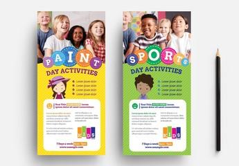 School Rack Card Flyer Layout