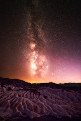 Milky Way with Flying Meteor at Death Valley National Park, California