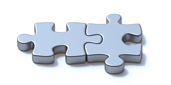 Two puzzle pieces 3D