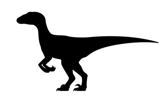 Vector velociraptor silhouette