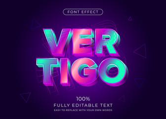 Modern vibrant 3d text effect. Editable font style Fotobehang
