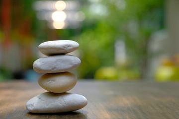 Deurstickers Zen zen stones on a background