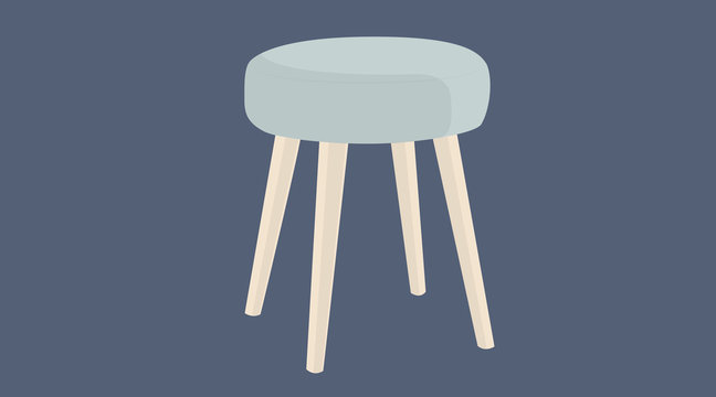 Vector Isolated Illustration of a Stool