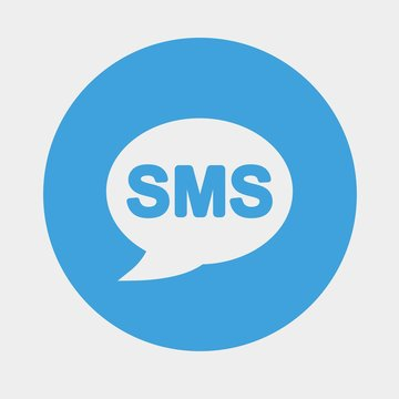 sms icon vector illustration and symbol for website and graphic design