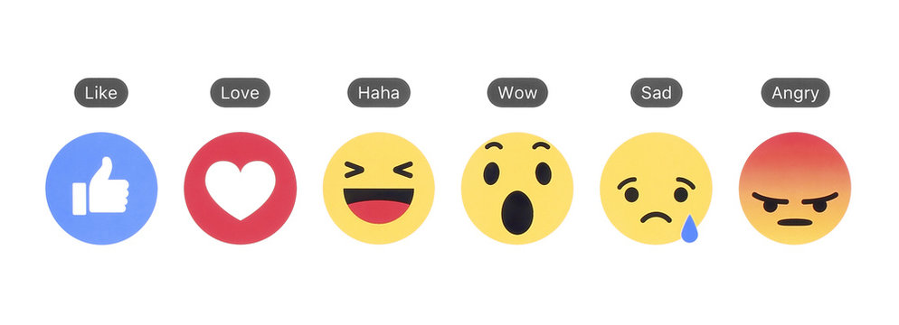 Facebook like button and Empathetic Emoji Reactions