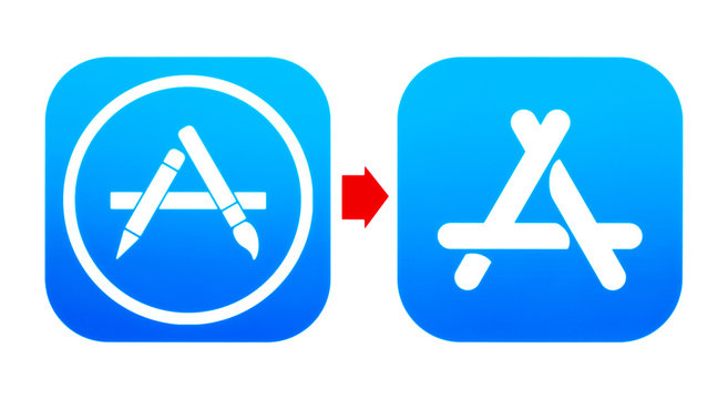 Old AppStore and new App Store icons