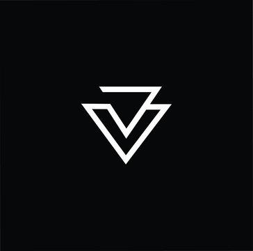 Professional Innovative Initial JV VJ logo. Letter BB Minimal elegant Monogram. Premium Business Artistic Alphabet symbol and sign