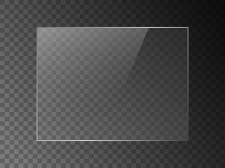 Vector mirror reflection effect texture for glass, plastic or acrylic window. png rectangle shape 4 x 3 glossy, shine, light, glare, clear plate.