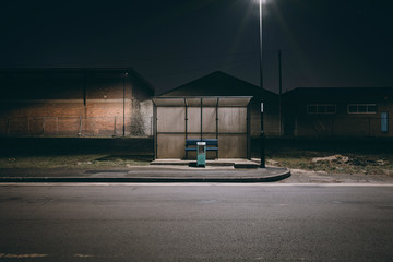 Photo sur Plexiglas Noir City streets at night in the North East of England
