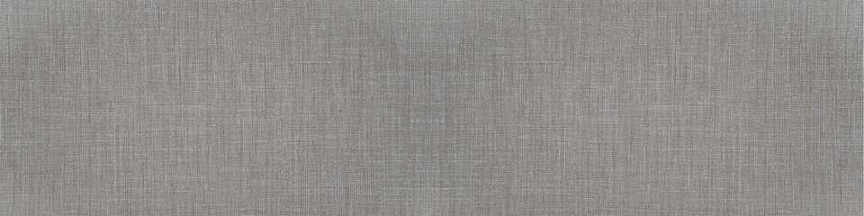 Photo sur Aluminium Tissu Gray natural cotton linen textile texture background banner panorama