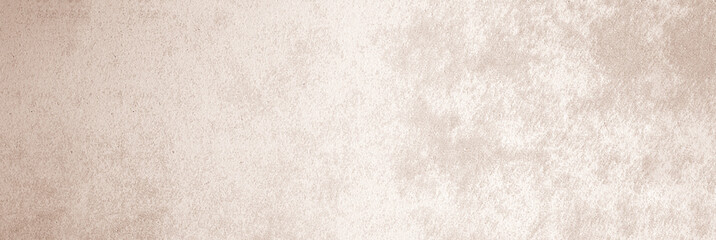 Fotobehang - Brown concrete stone paint wall background, Grunge cement paint texture backdrop, Light brown rough concrete stone wall banner, Copy space for interior design background, wallpaper