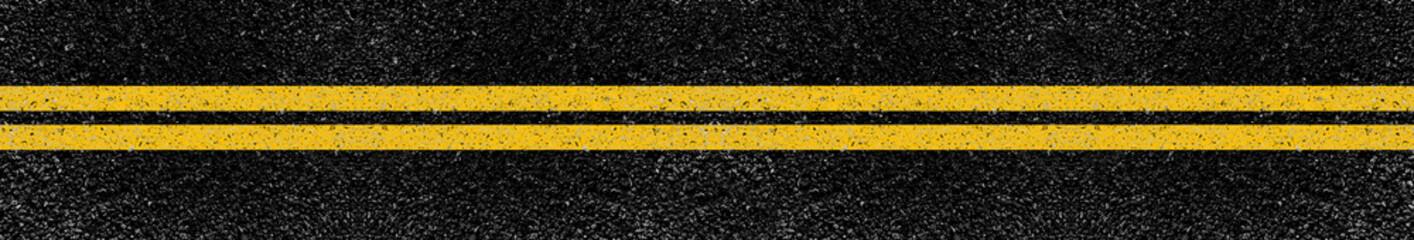 lignes jaunes sur asphalte  Fotomurales