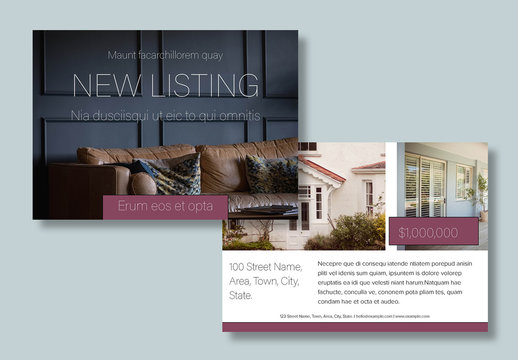 Real Estate Postcard Layouts